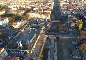 Halkalı-Sirkeci tren hattı havadan görüntülendi!