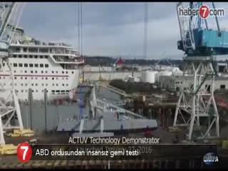 ABD ordusundan insans�z gemi testi