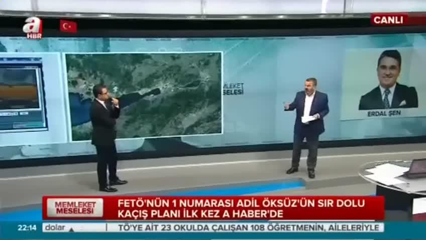 Adil Öksüz'ün kaçış haritası yayınlandı
