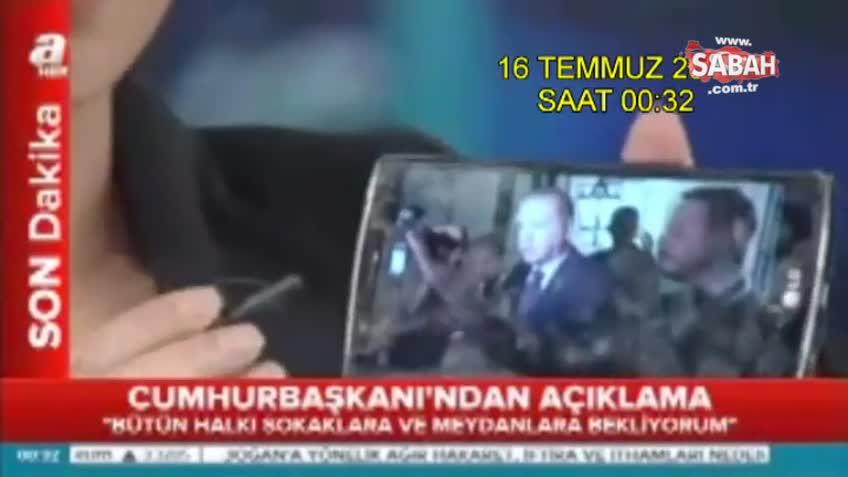 Erdoğan'ın 15 Temmuz gecesi yayınlanmadığı iddia edilen görüntüleri