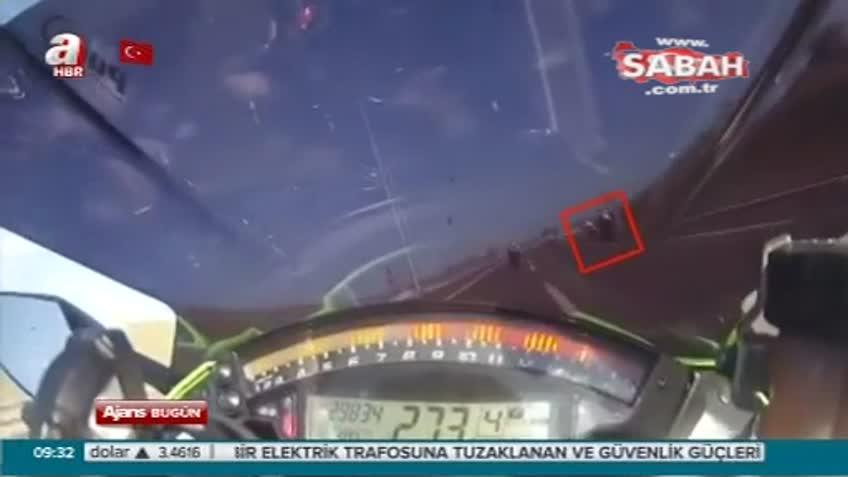 Motosiklet sürücüleri ölüm anını böyle çekti
