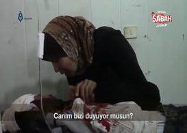 Suriye'de son nefesini vermek üzere olan oğluna Kelime-i şehadet getirten anne