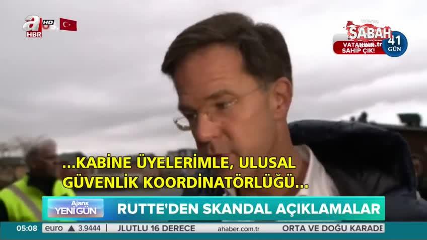 Hollanda Başbakanı Mark Rutte'den skandal Türkiye açıklaması