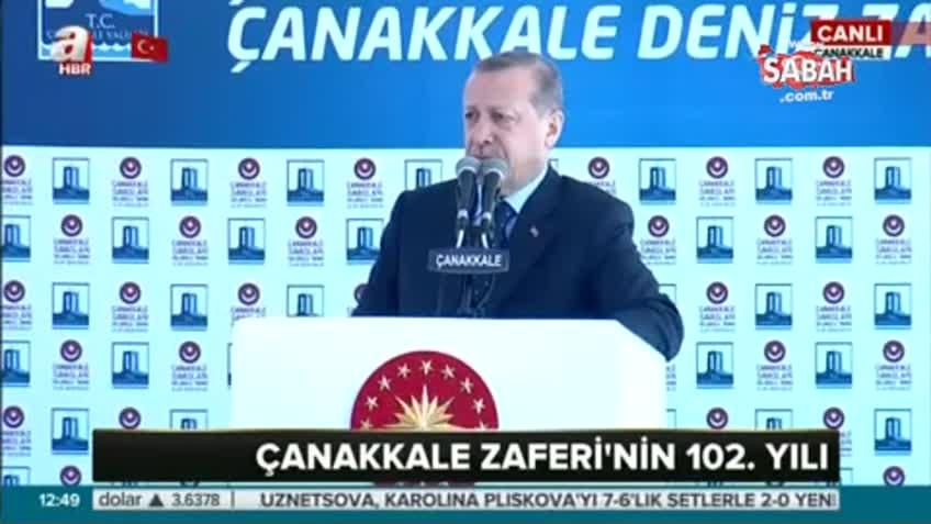 Erdoğan Çanakkale töreninde şiir okudu