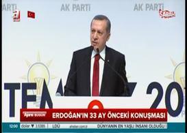 Erdoğan'ın 1000 gün önce veda konuşması