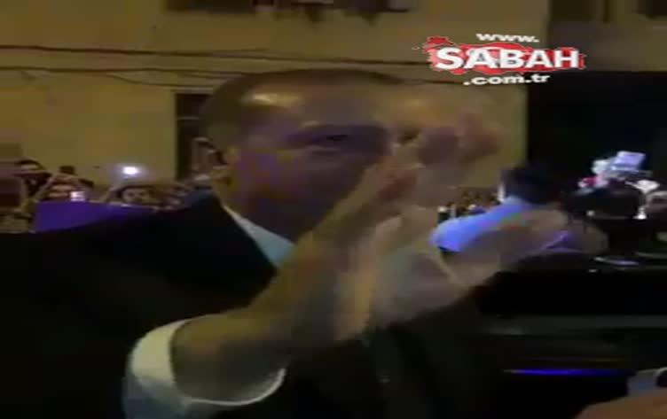 Cumhurbaşkanı Erdoğan Kasımpaşa'da coşkuyla karşılandı